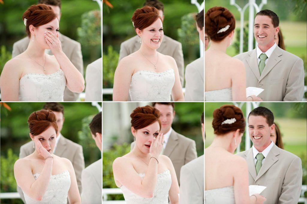 Emotions on wedding day