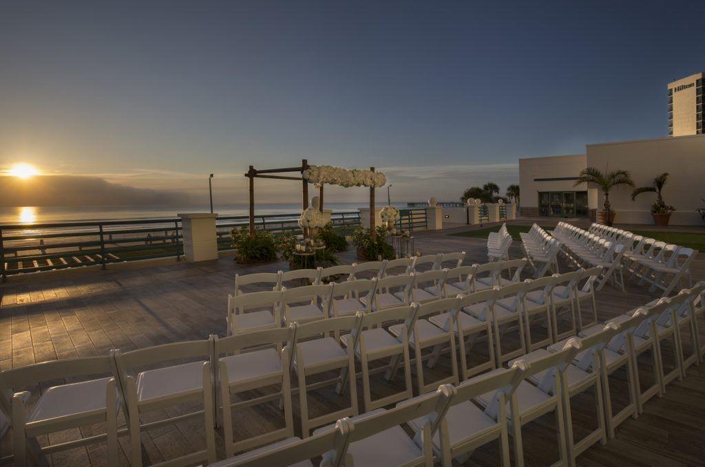 outside beach wedding ceremony