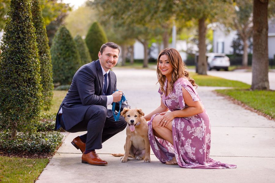 your expert storytellers engagement shoot with puppy