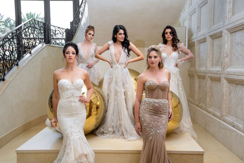 posed group of brides
