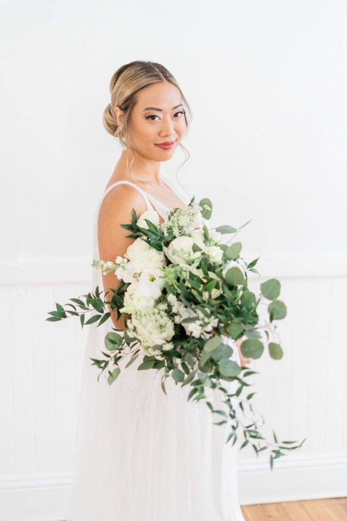 soft bridal look with floral