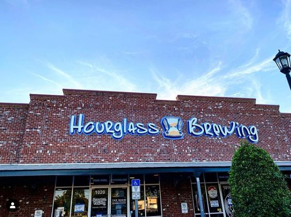 front of hourglass brewing