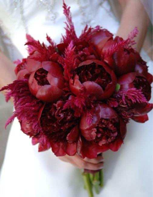 deep red floral bouquet