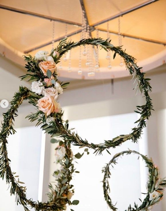 floral and greenery circles