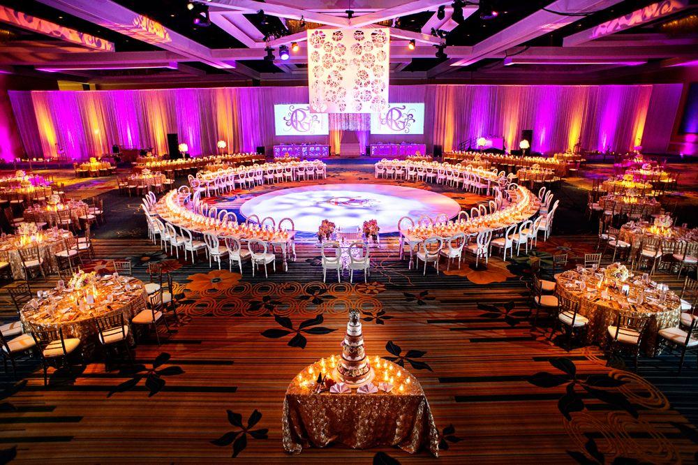 large reception set up