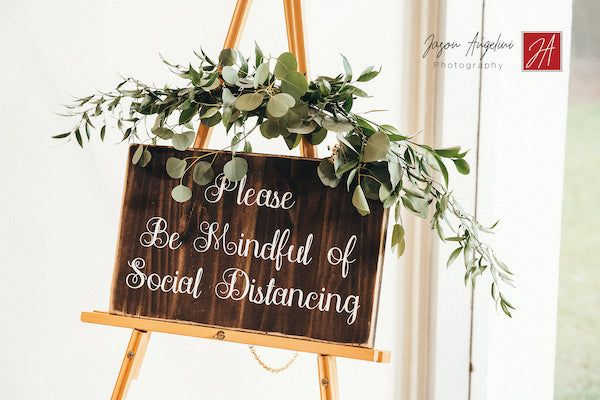 social distancing decorative sign