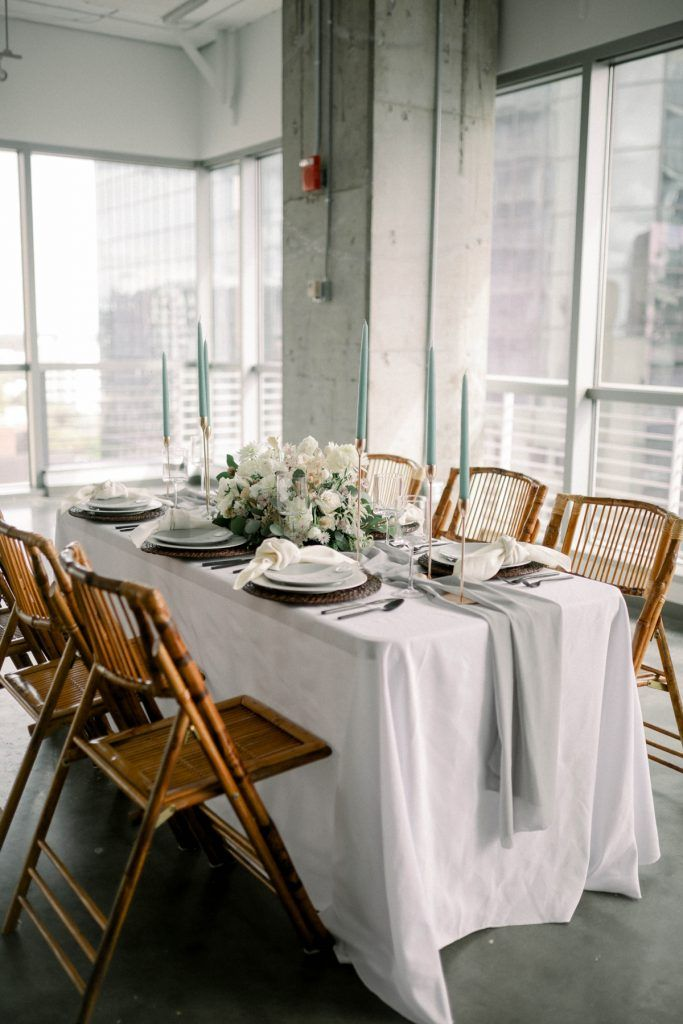 wedding table and wooden chairs
