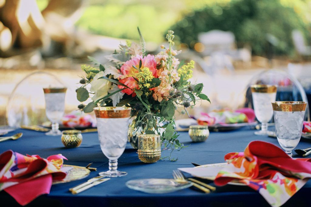 floral reception table