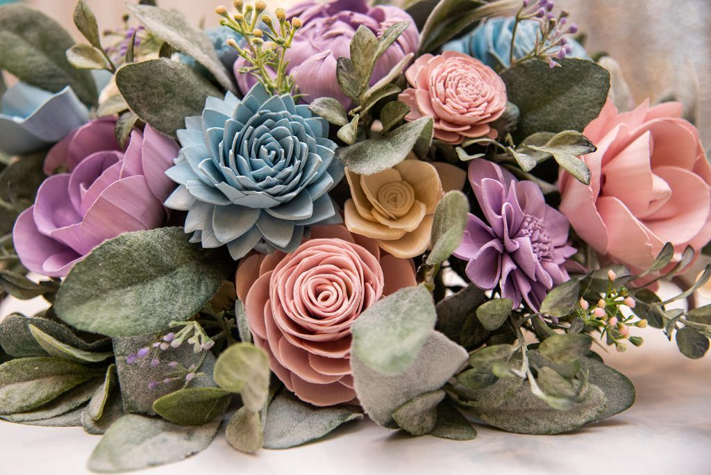 wedding expo sponsor for florals is Hanky Panky Blooms