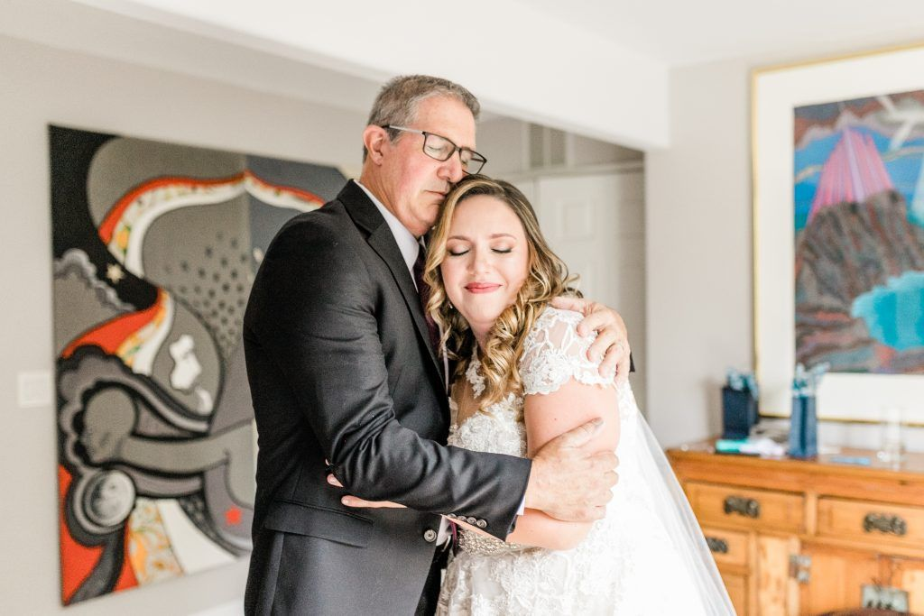 Daddy Daughter wedding first look