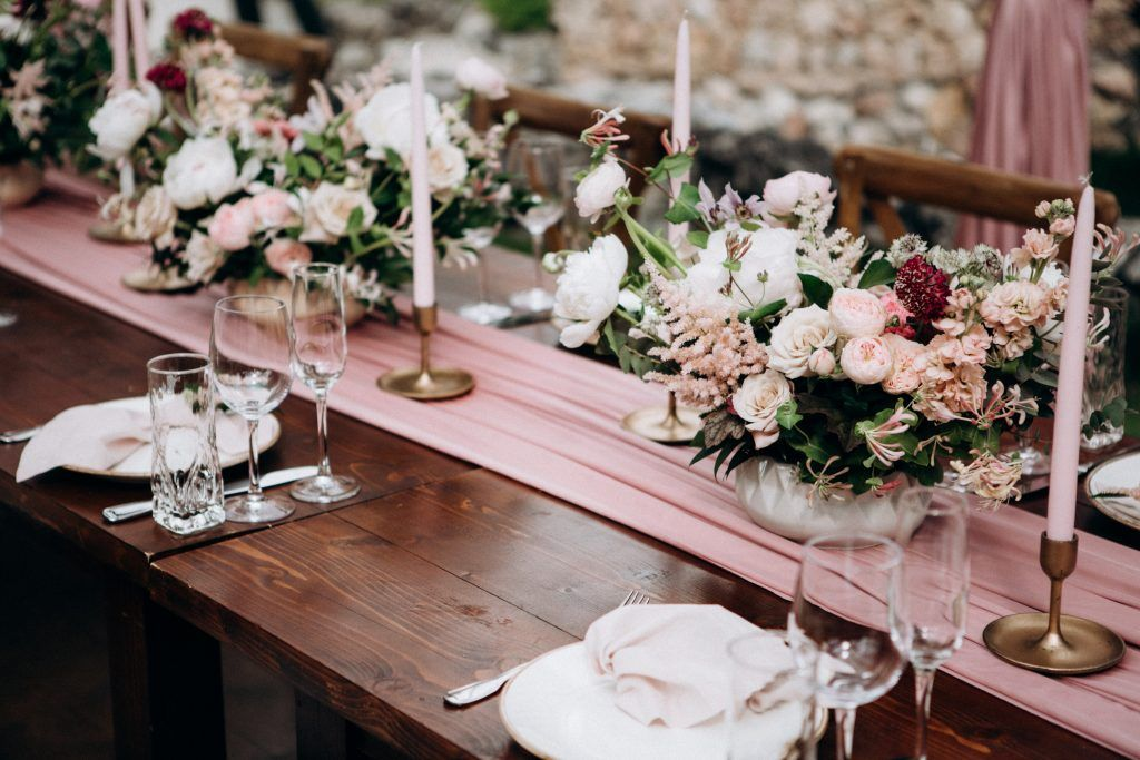 wedding tables with decor